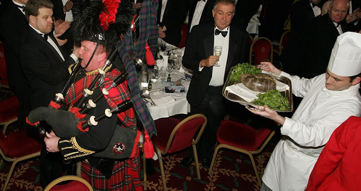 Burns Night Celebration - Piping in the Haggis