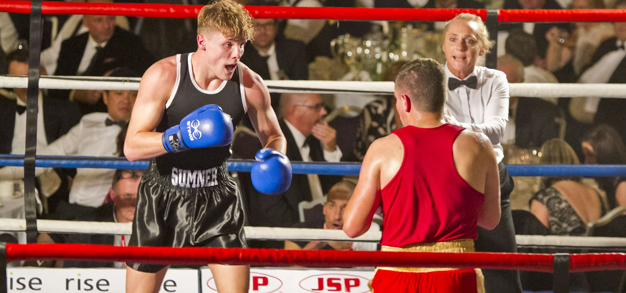 Black Tie Boxing - the boys in action