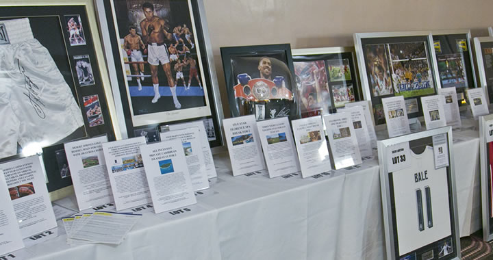 Raising Funds for Charity via a Silent Auction of Boxing & Sport Memorabilia
